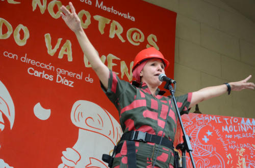 Intervención de Teatro El Público. Actriz Yailene Sierra.